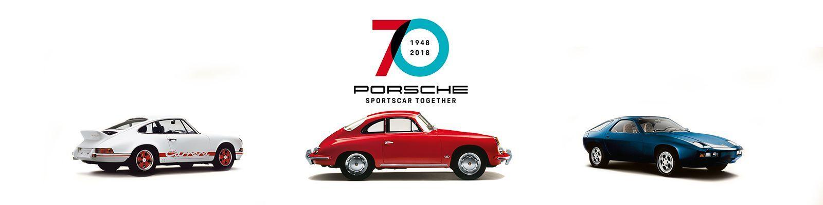 Couverture Les 70 ans de voitures Porsche