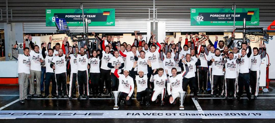 Couverture Porsche champion du monde de la Super saison du WEC